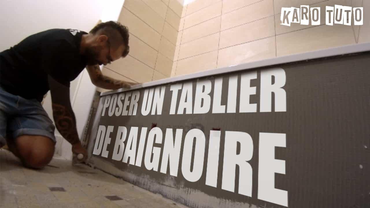 Decoration Tablier De Baignoire poser un tablier de baignoire - karotuto