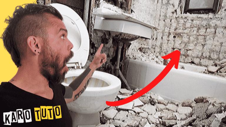 Karotuto - Comment réparer un mur après avoir enlever du carrelage